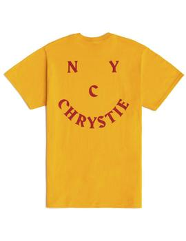 CAMISETA CHRYSTIE NY SMILE LOGO GOLD