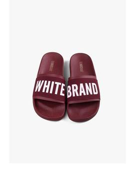 CHANCLAS HOMBRE THE WHITE BRAND BURGUNDY
